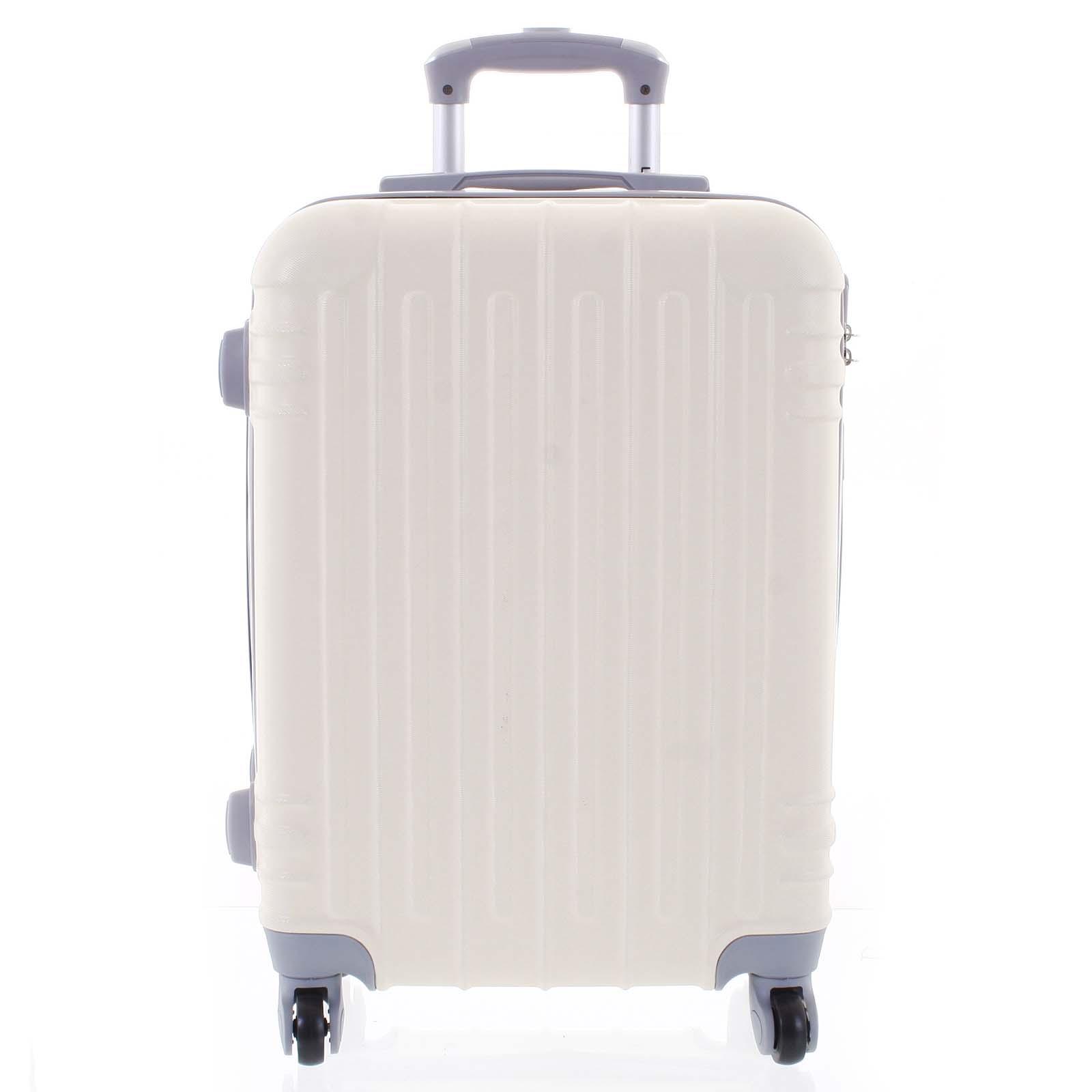 Moderní krémově bílý skořepinový cestovní kufr - Ormi Dopp M