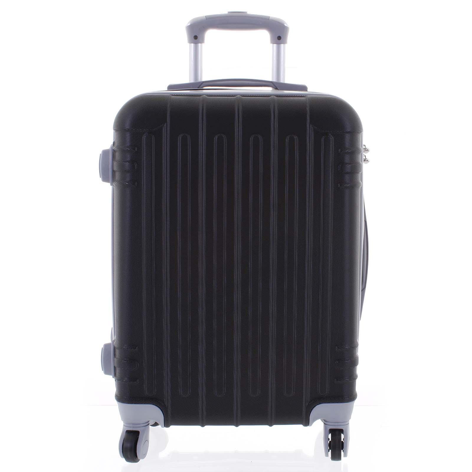 Moderní černý skořepinový cestovní kufr - Ormi Dopp L