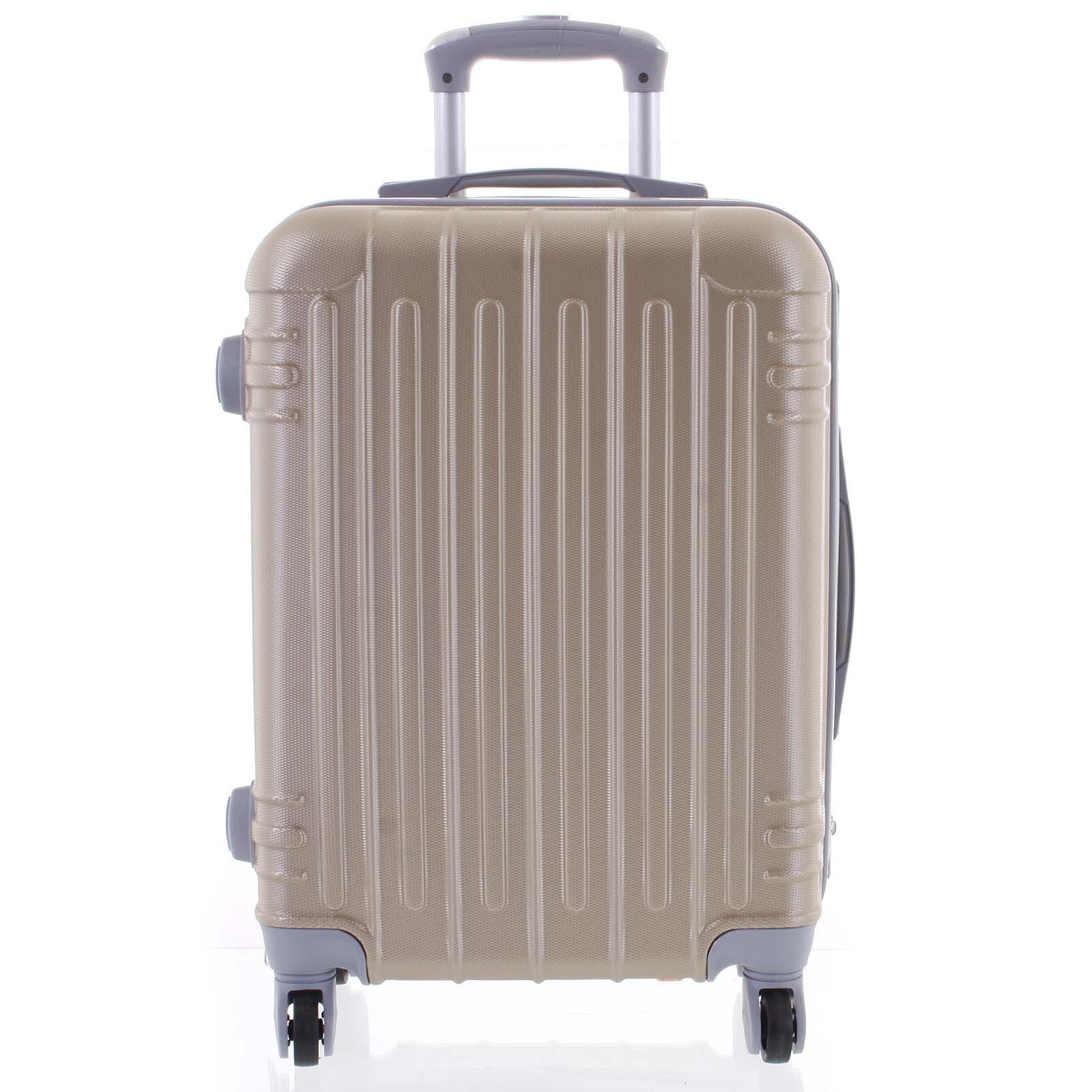 Moderní zlatý skořepinový cestovní kufr - Ormi Dopp S
