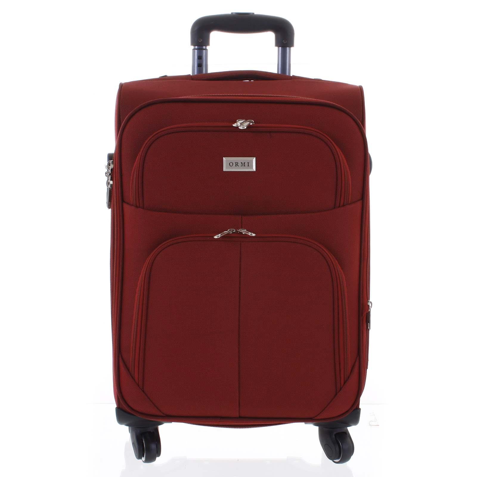 Cestovní kufr tmavě červený - Ormi Tessa S