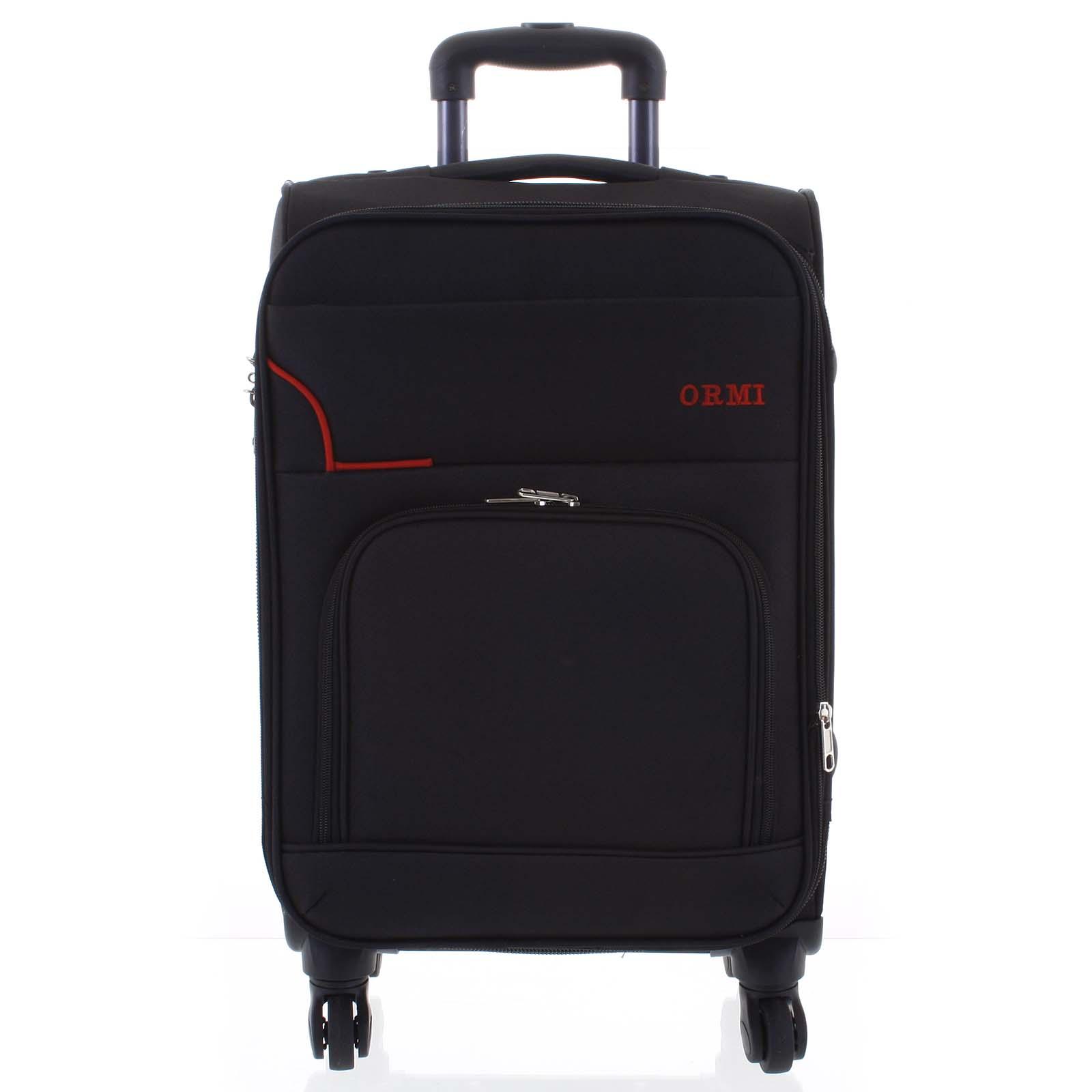 Cestovní látkový černý kufr - Ormi Nitire L
