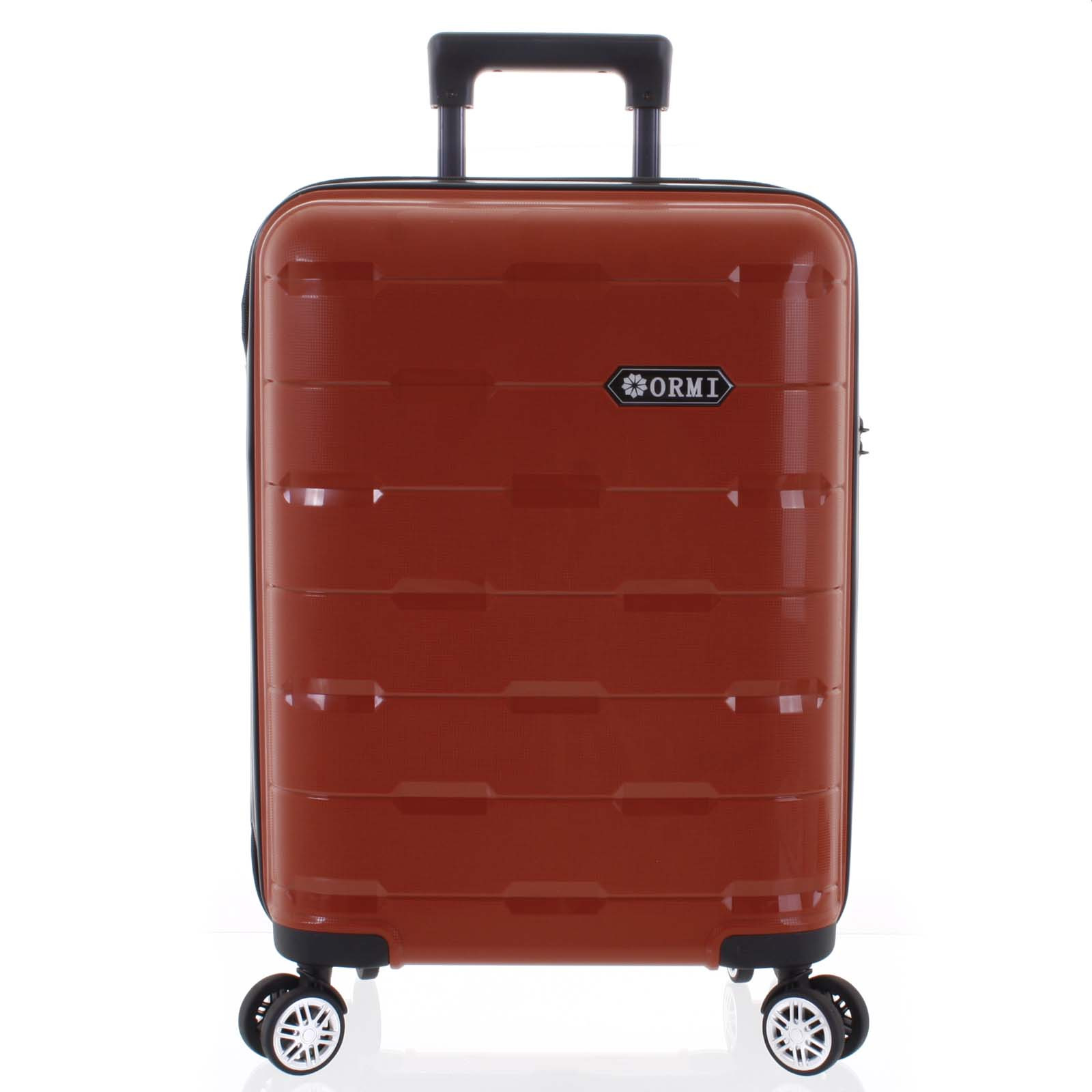 Luxusní červený skořepinový vzorovaný kufr - Ormi Predhe S