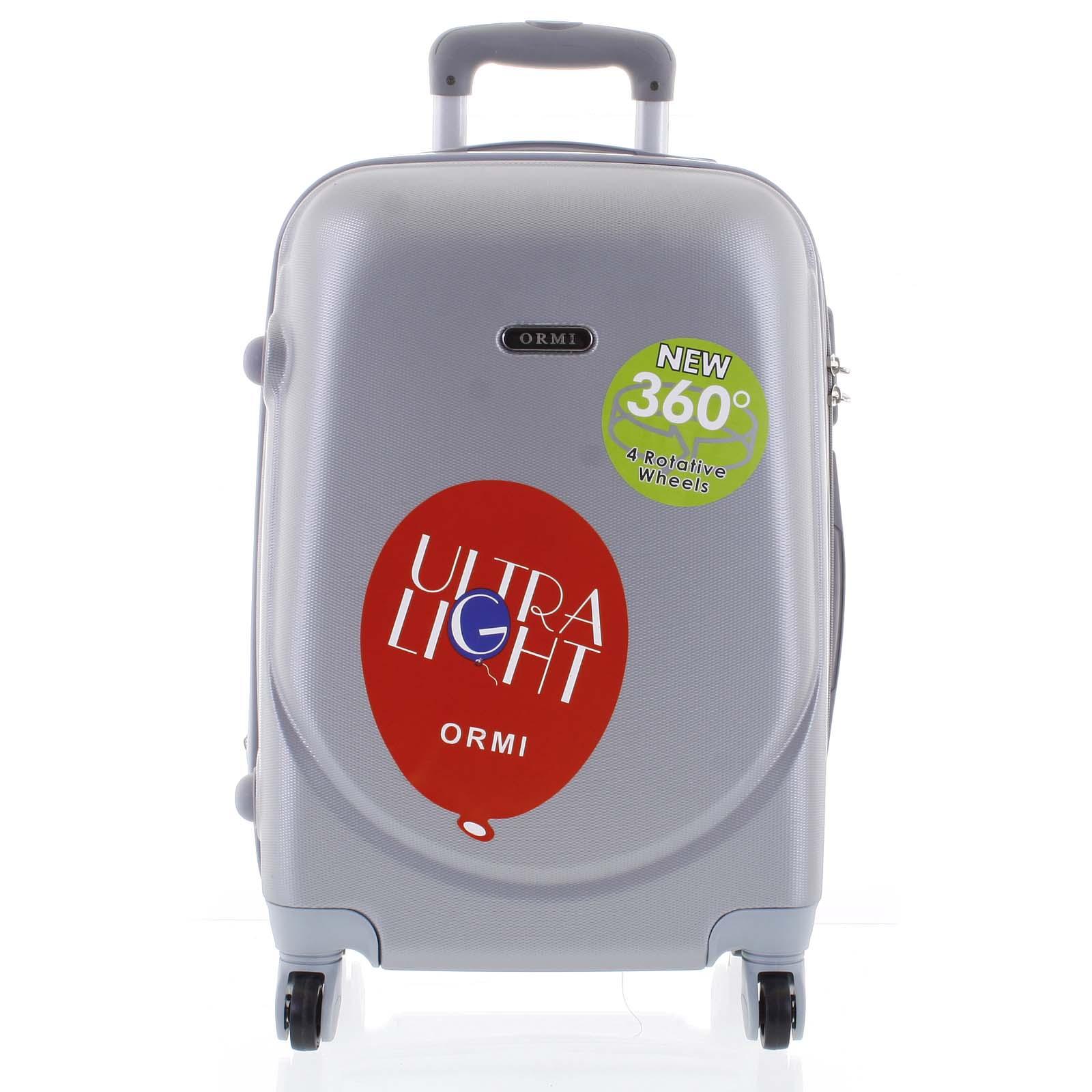 Pevný cestovní kufr světle šedý - Ormi Evenger M