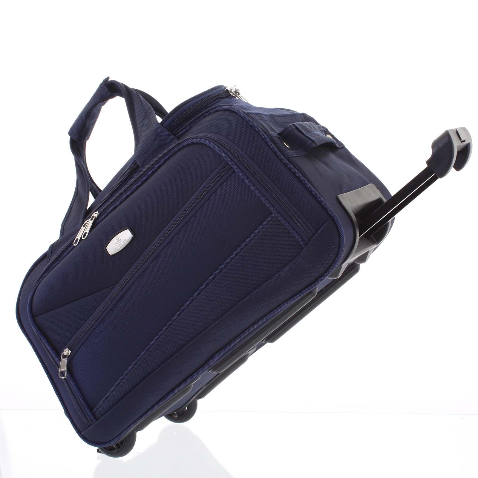 Tmavě modrá cestovní taška na kolečkách - Lumi Sakk S