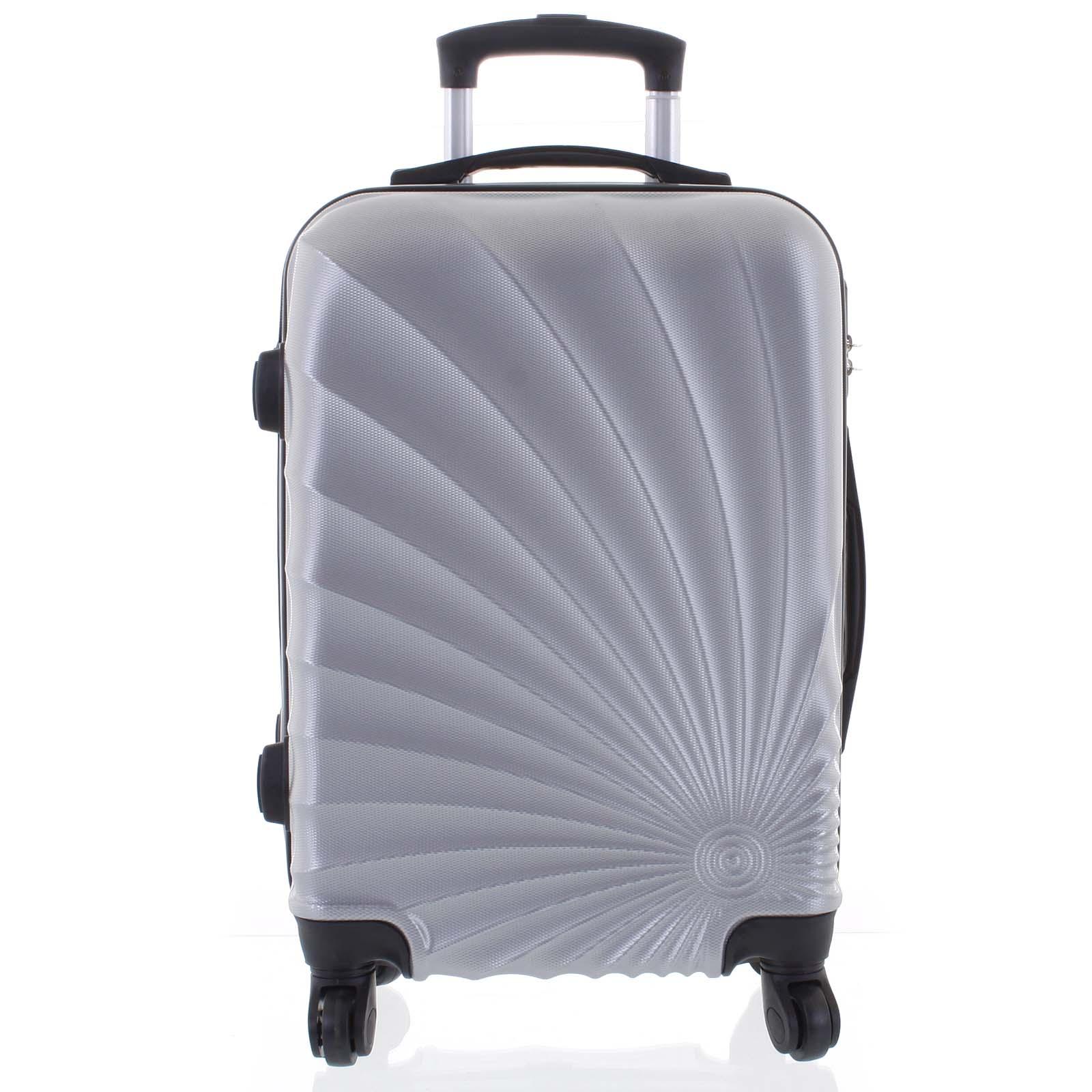 Originální pevný cestovní kufr světle stříbrný - Ormi Sheli S