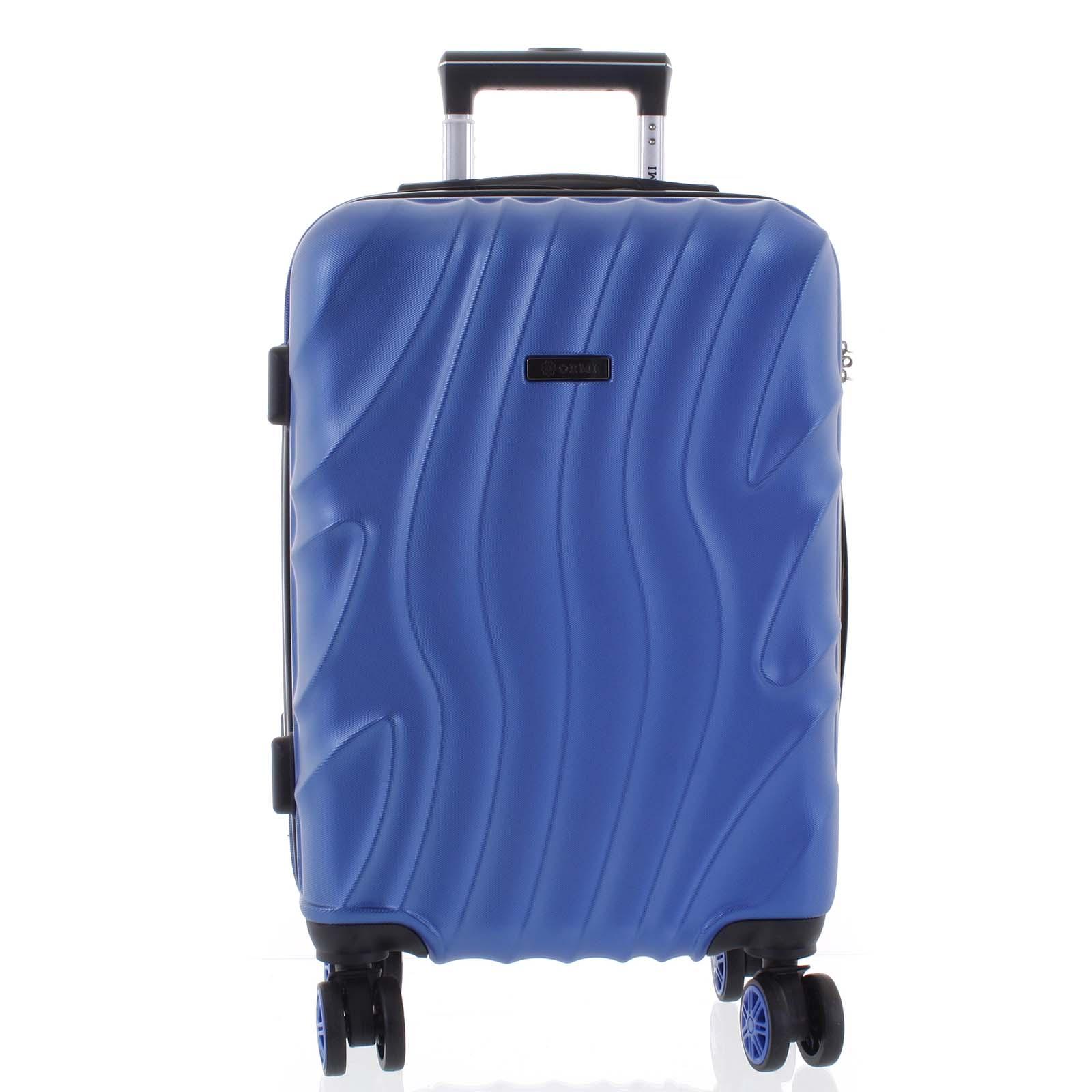 Pevný originální perleťově modrý cestovní kufr - Ormi Qadhifa L