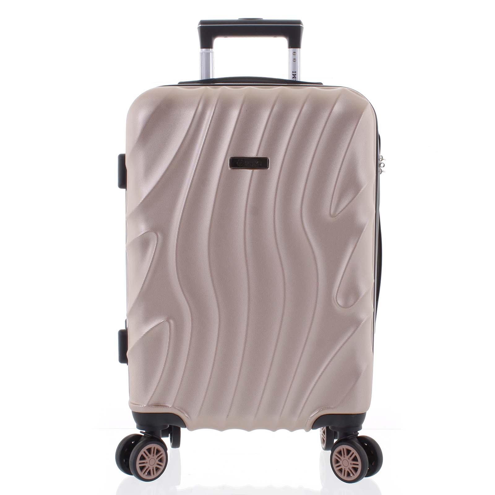 Pevný originální růžově zlatý cestovní kufr - Ormi Qadhifa L