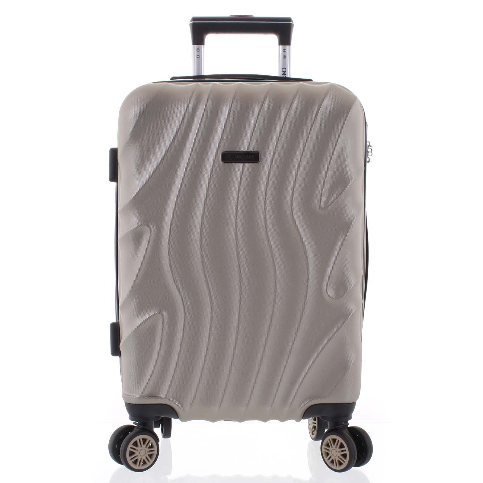 Pevný originální světle zlatý cestovní kufr - Ormi Qadhifa L