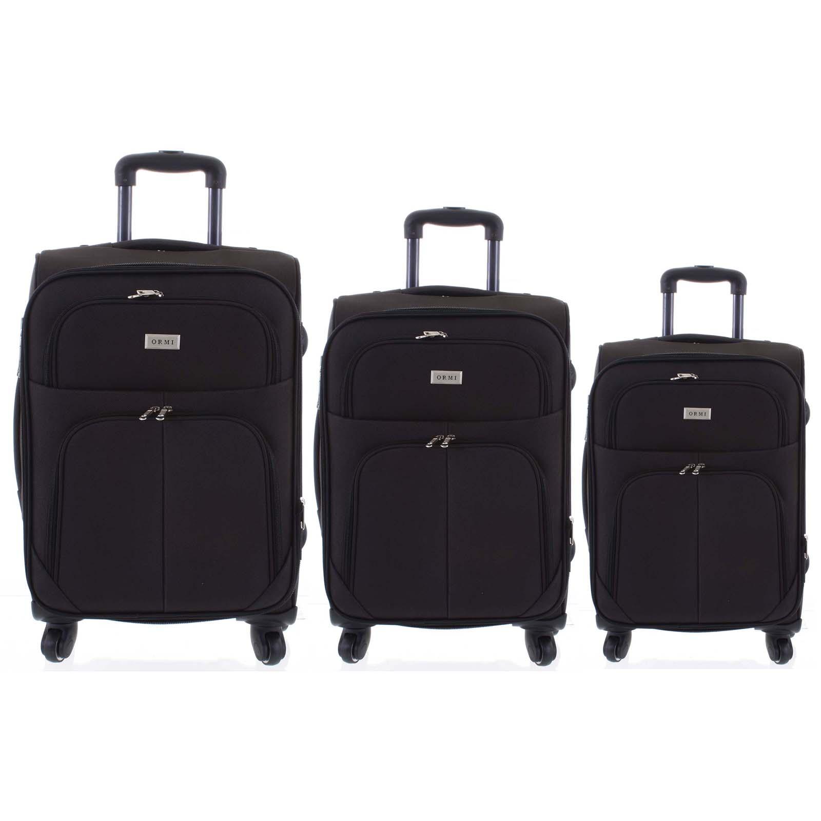 Cestovní kufr černý sada - Ormi Tessa S, M, L