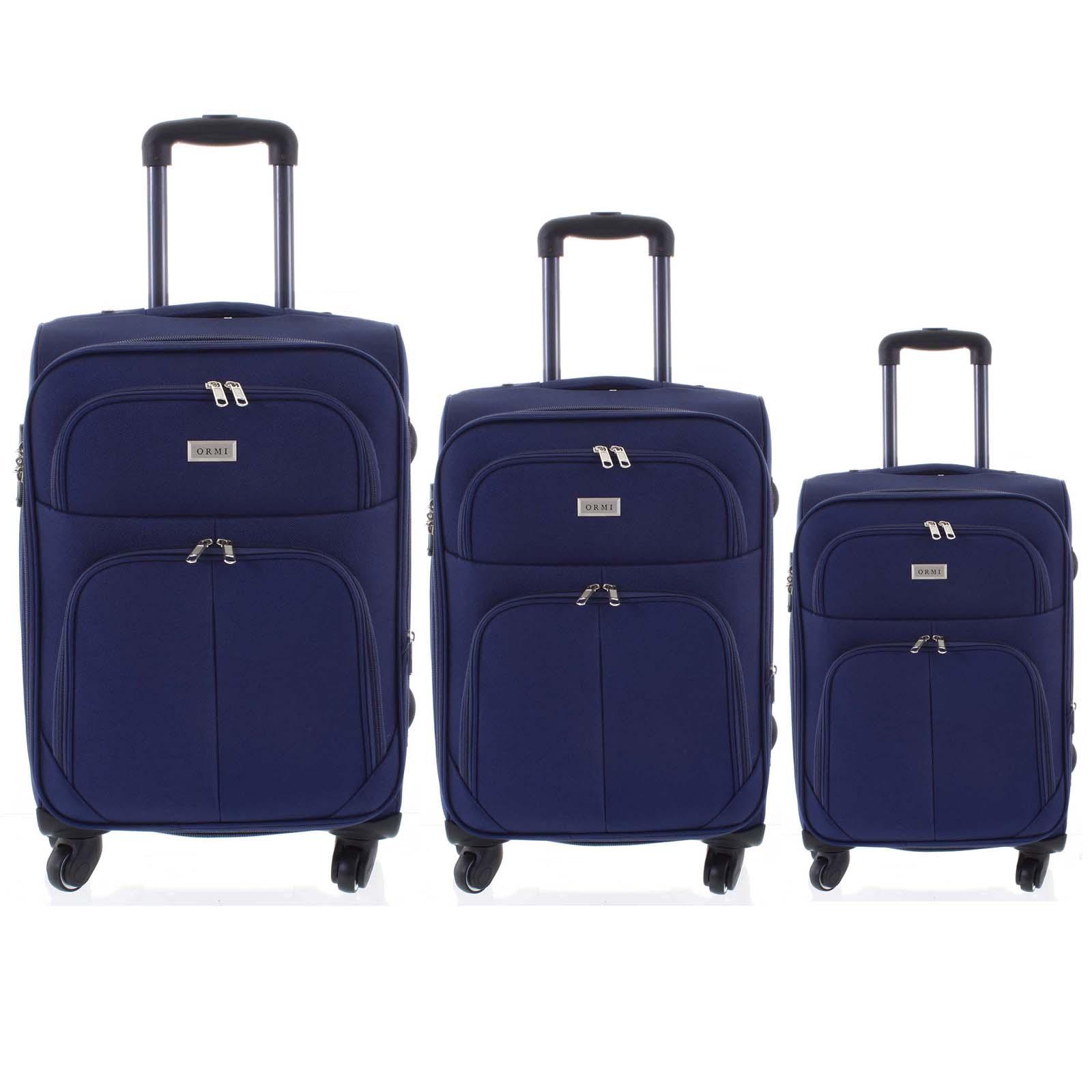 Cestovní kufr modrý sada - Ormi Tessa S, M, L