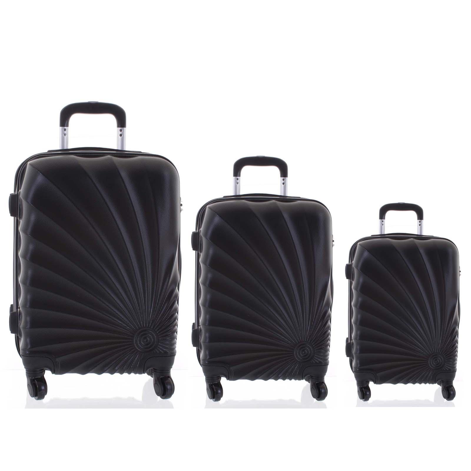 Originální pevný cestovní kufr černý sada - Ormi Sheli L, M, S