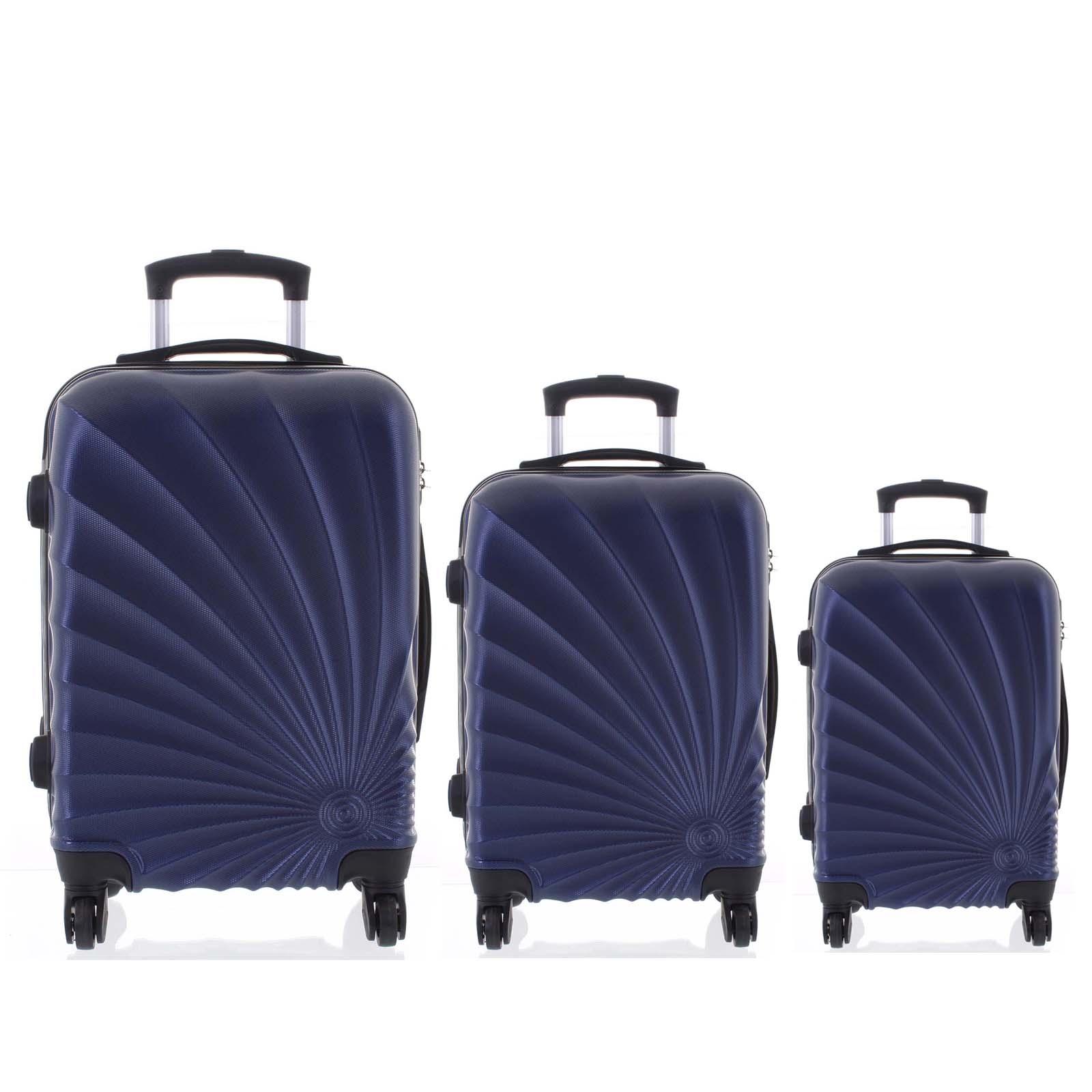 Originální pevný cestovní kufr modrý sada - Ormi Sheli L, M, S