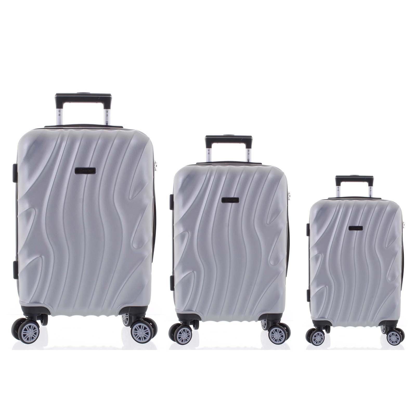 Pevný originální stříbrný cestovní kufr sada - Ormi Qadhifa L, M, S