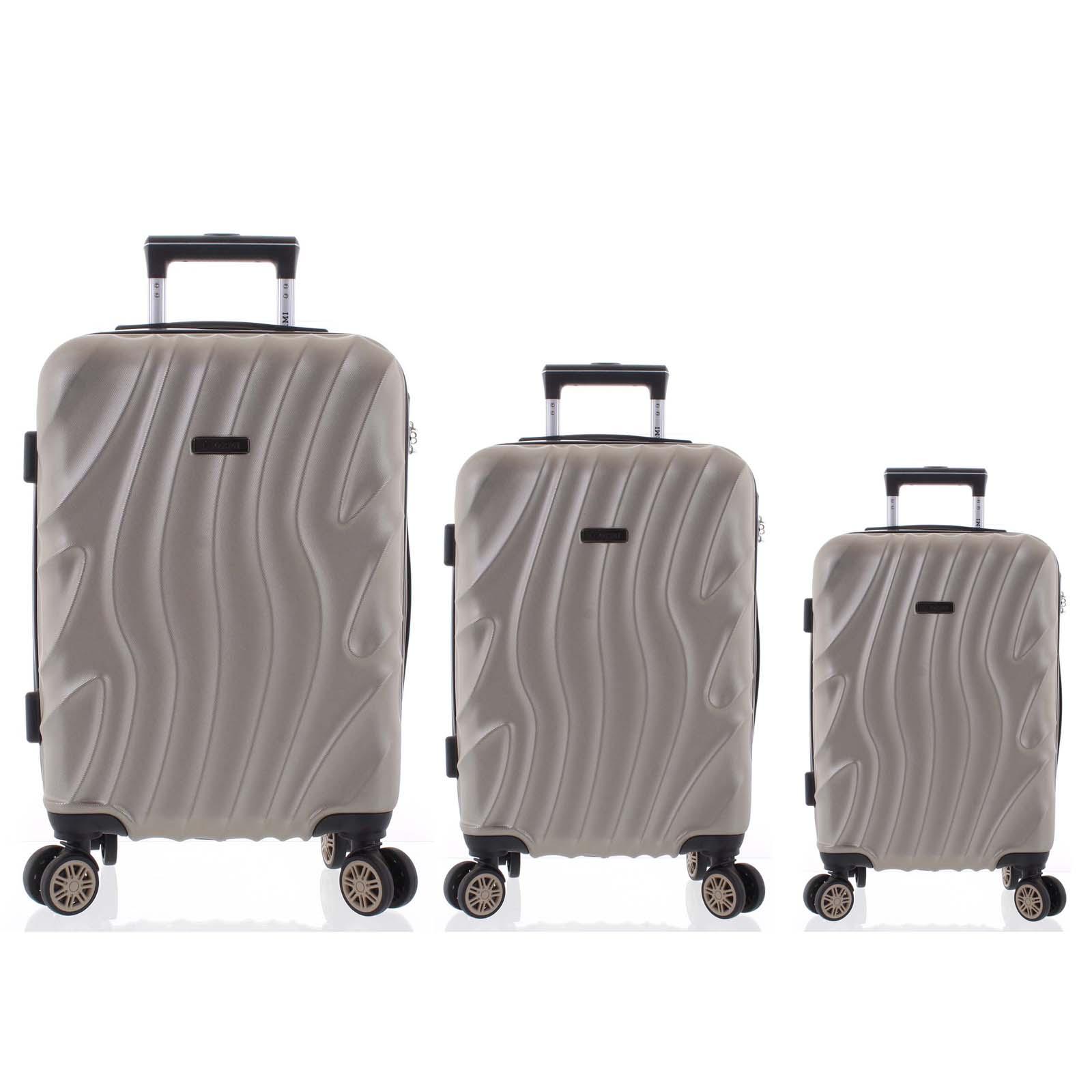 Pevný originální světle zlatý cestovní kufr sada - Ormi Qadhifa L, M, S