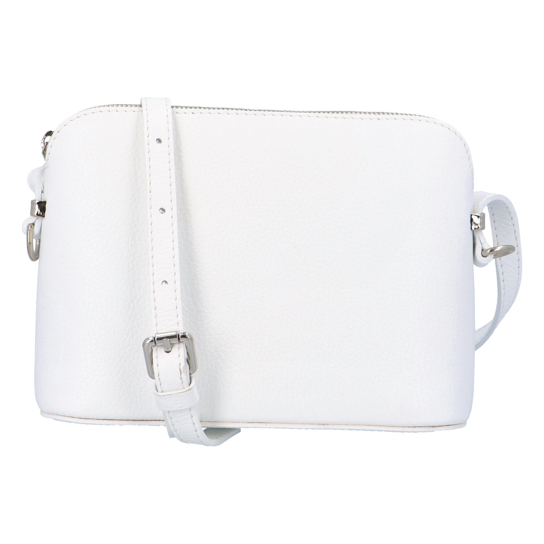 Dámská kožená crossbody kabelka bílá - ItalY M7772