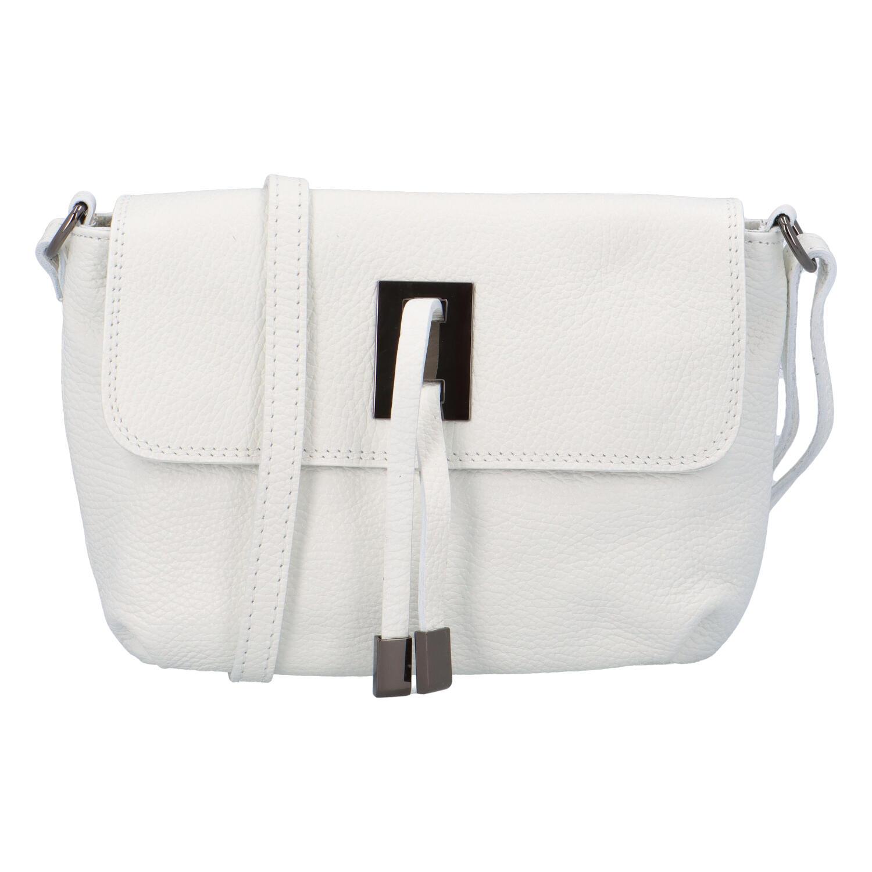 Dámská kožená crossbody kabelka bílá - ItalY Porta
