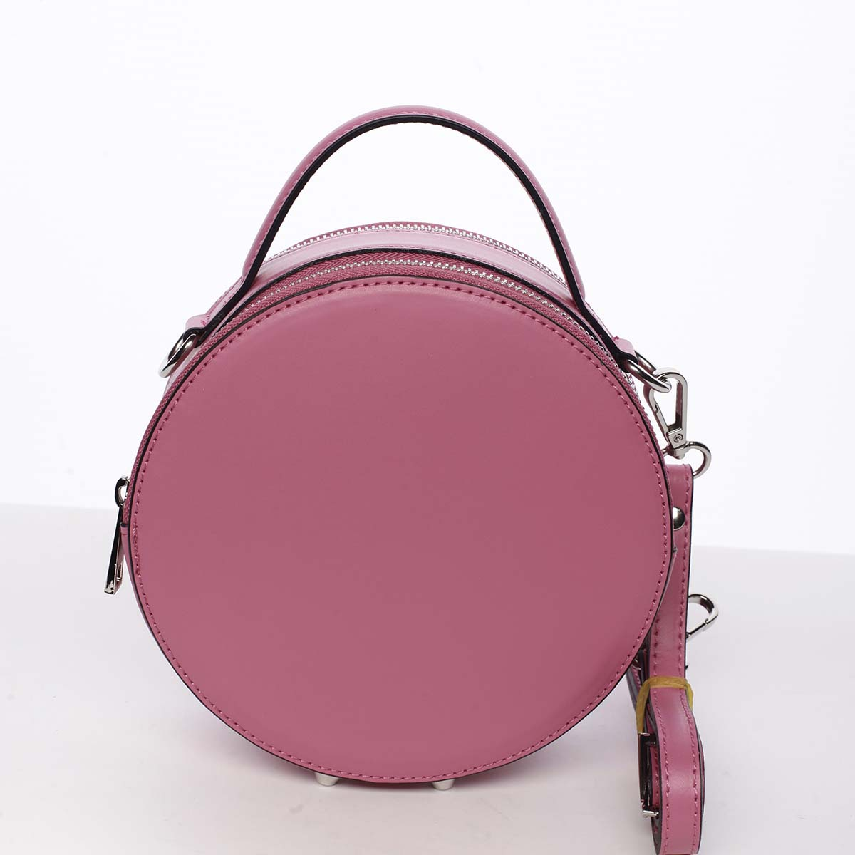 Malá fuchsiová elegantní dámská kožená kabelka - ItalY Husna