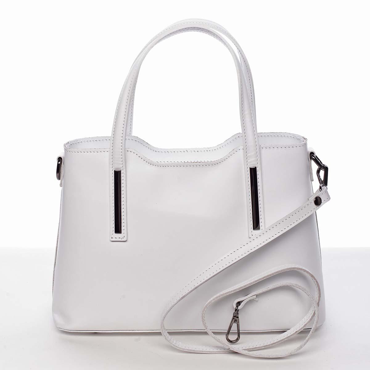 Menší kožená kabelka bílá - ItalY Alex