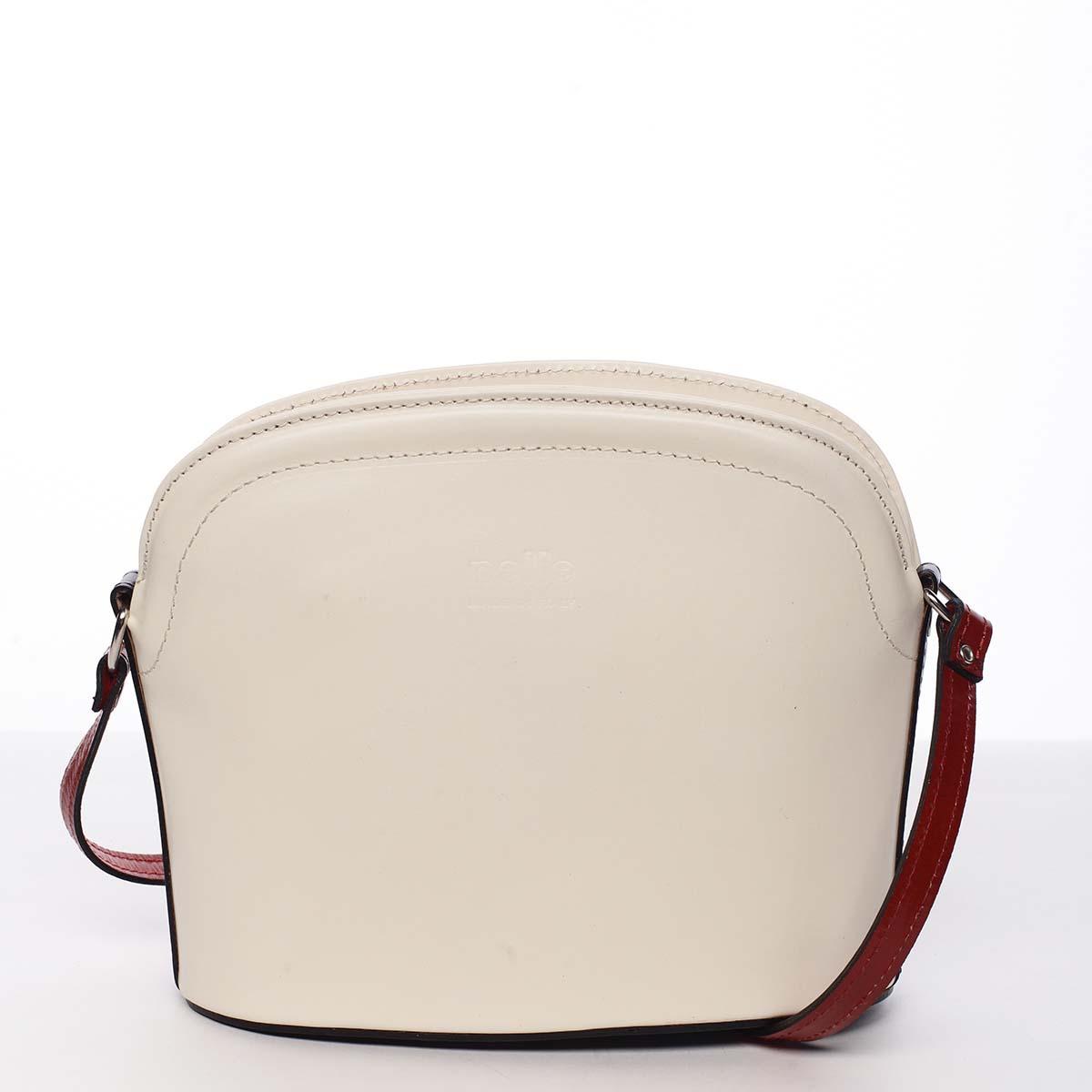Dámská kožená crossbody kabelka barevná - ItalY Tracy