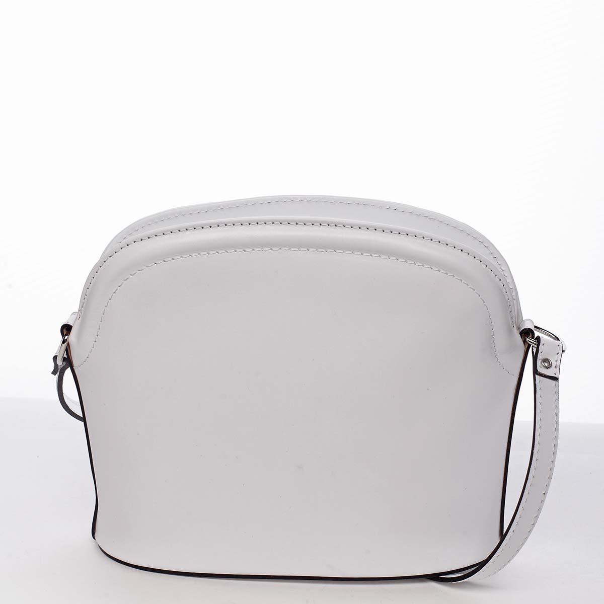Dámská kožená crossbody kabelka bílá - ItalY Tracy