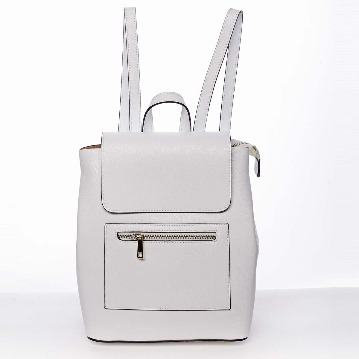 Dámský městský batoh kožený bílý - ItalY Bernadea