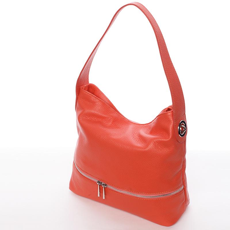 Dámská kožená kabelka přes rameno červená - ItalY Miriam