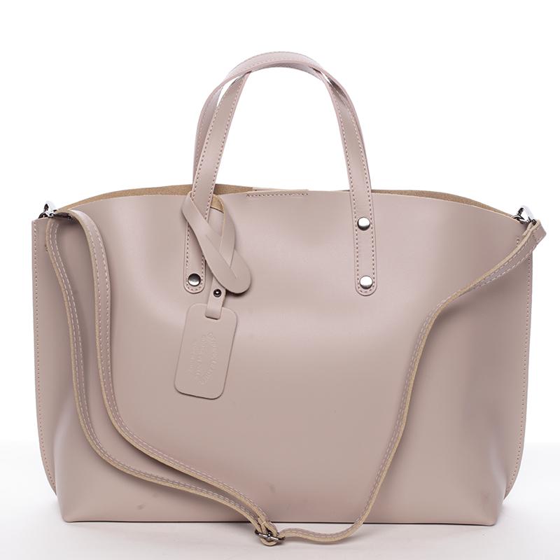 Dámská kožená kabelka starorůžová - ItalY Jordana