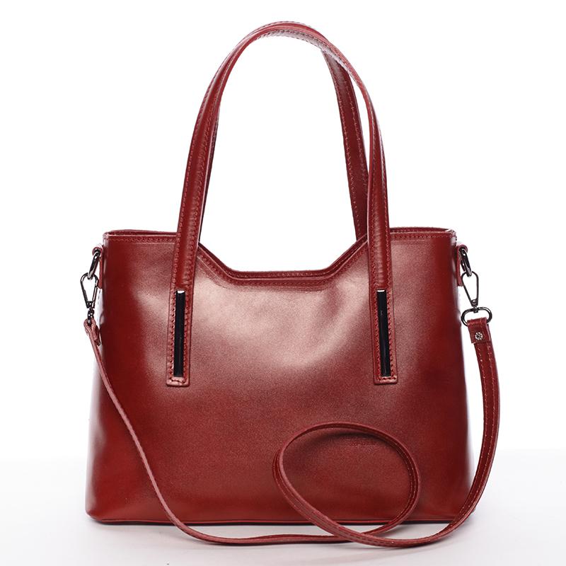 Menší kožená kabelka červená - ItalY Alex
