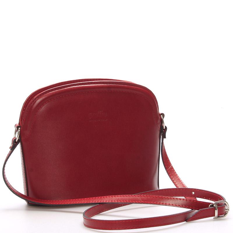 Dámská kožená crossbody kabelka červená - ItalY Tracy