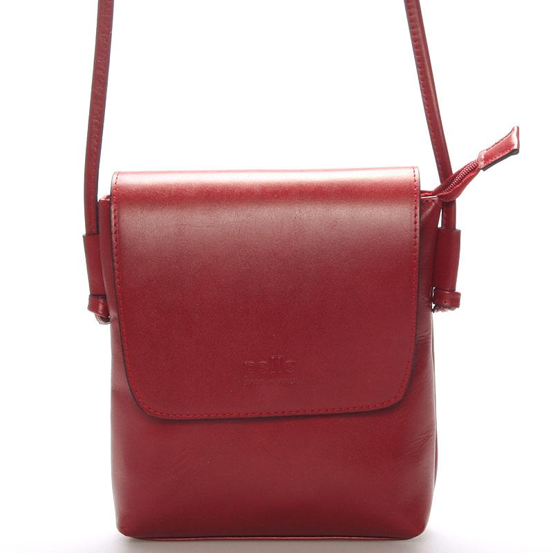 Dámská kožená crossbody kabelka červená - ItalY Tamia