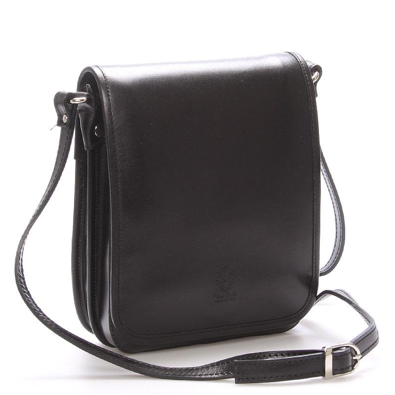 Luxusní kožená taška přes rameno černá - ItalY Harper