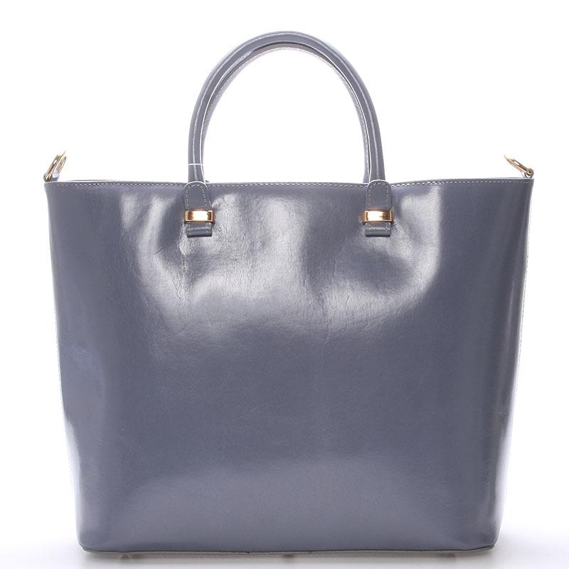 Luxusní dámská kožená kabelka šedá - ItalY Anabela