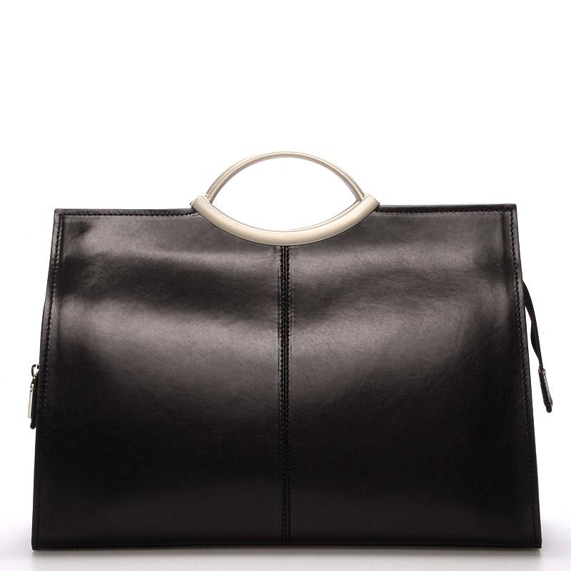 Dámská kožená večerní kabelka černá - ItalY Becca