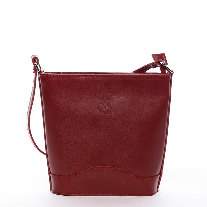 Dámská kožená crossbody kabelka červená - ItalY Bryana