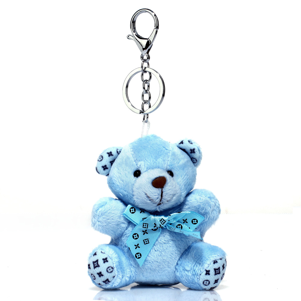 Přívěsek na kabelku modrý - medvídek