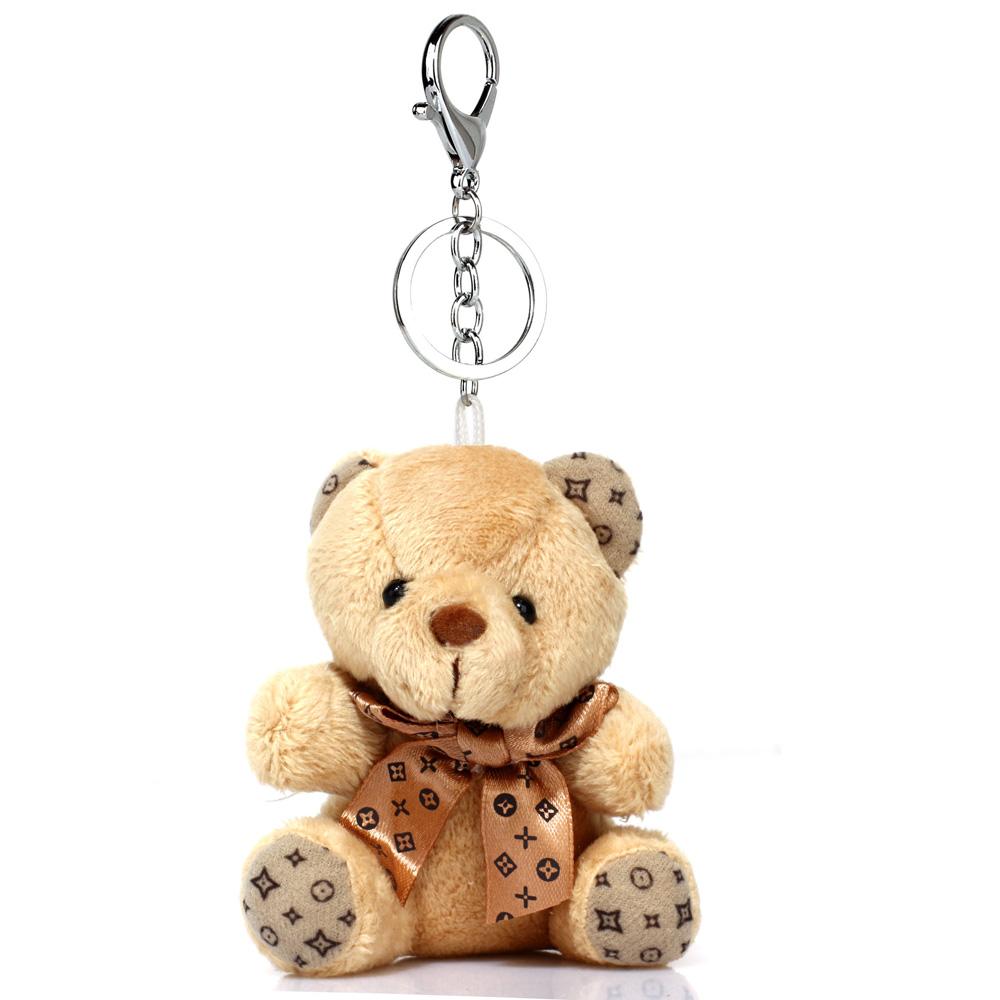 Přívěsek na kabelku hnědý - medvídek
