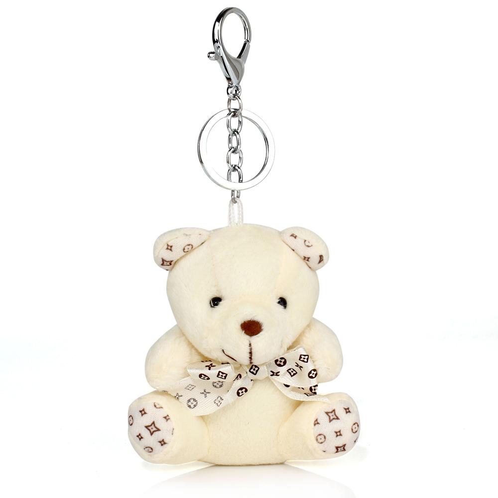 Přívěsek na kabelku béžový - medvídek