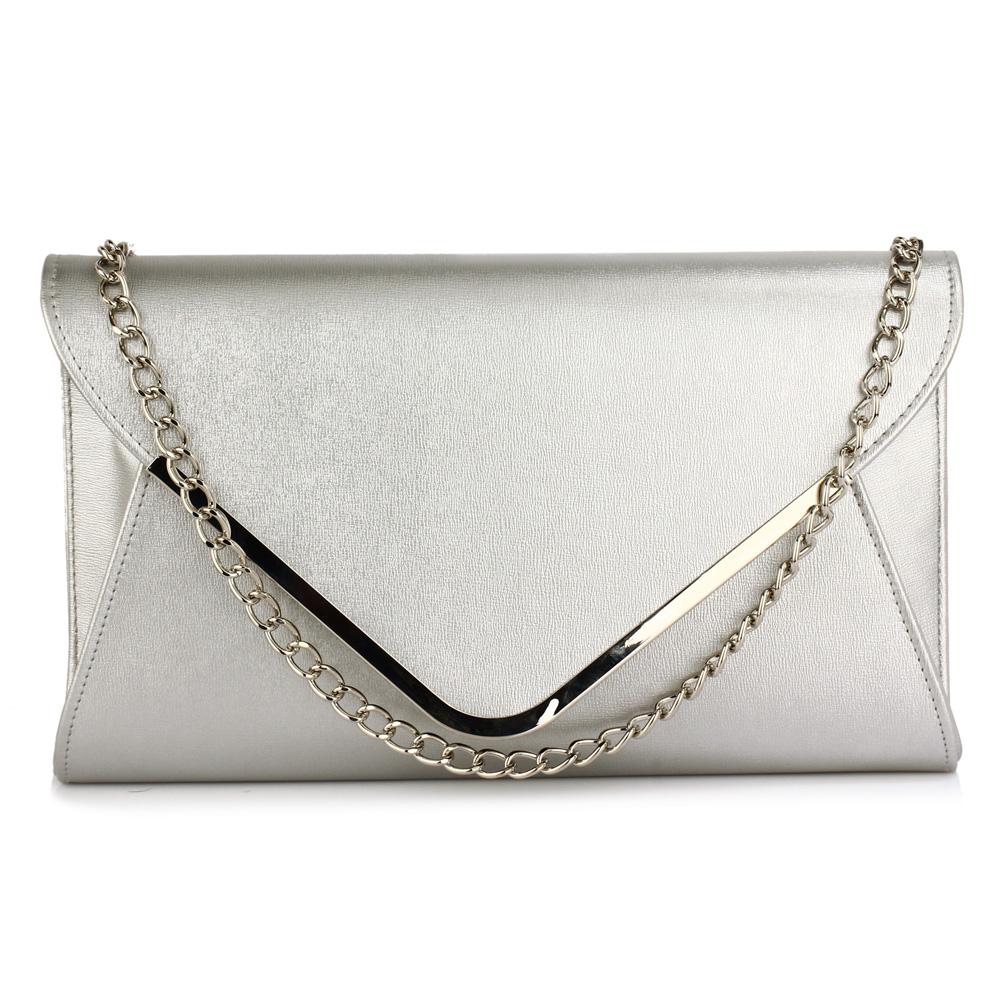 Elegantní stříbrné psaníčko - LS Fashion Ilaria