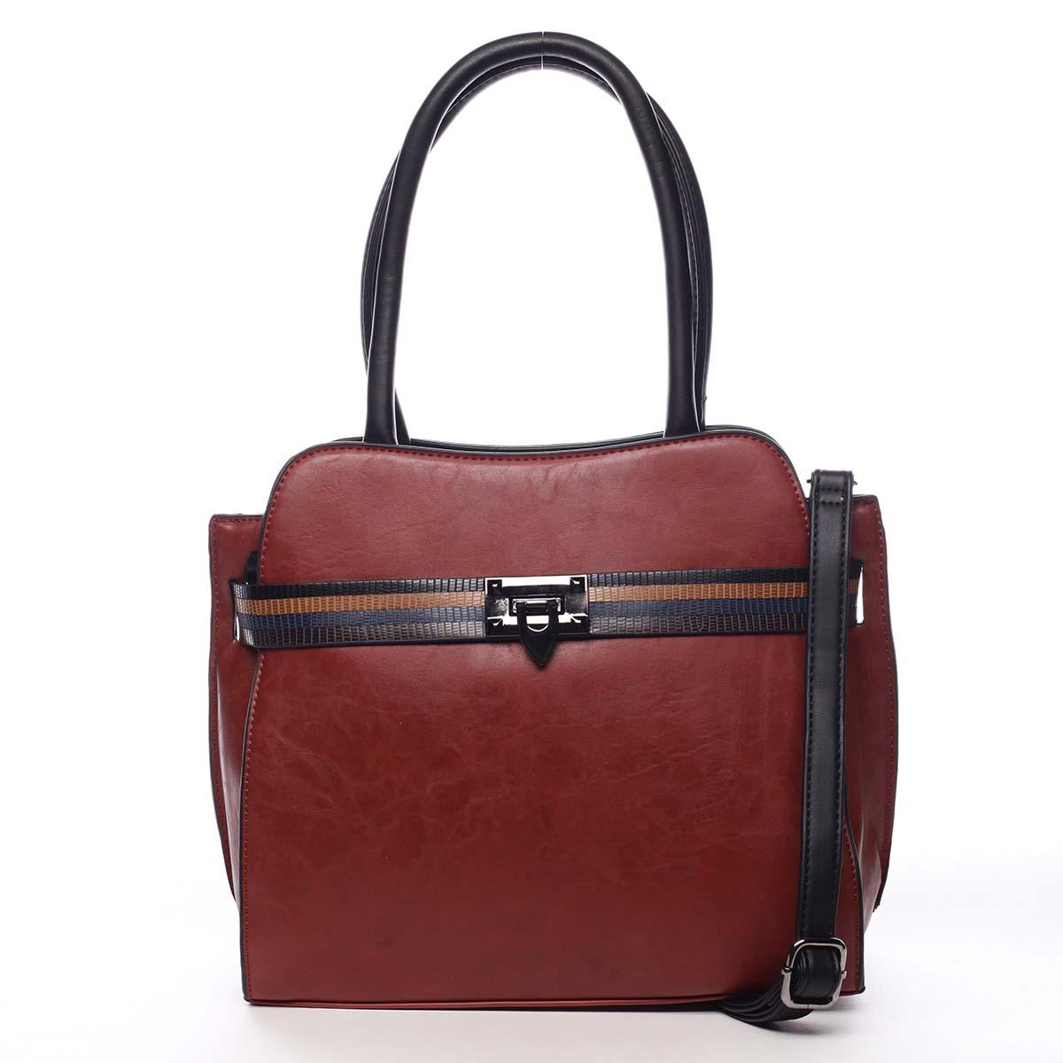 Dámská kabelka přes rameno červená - Maria C Shelsia