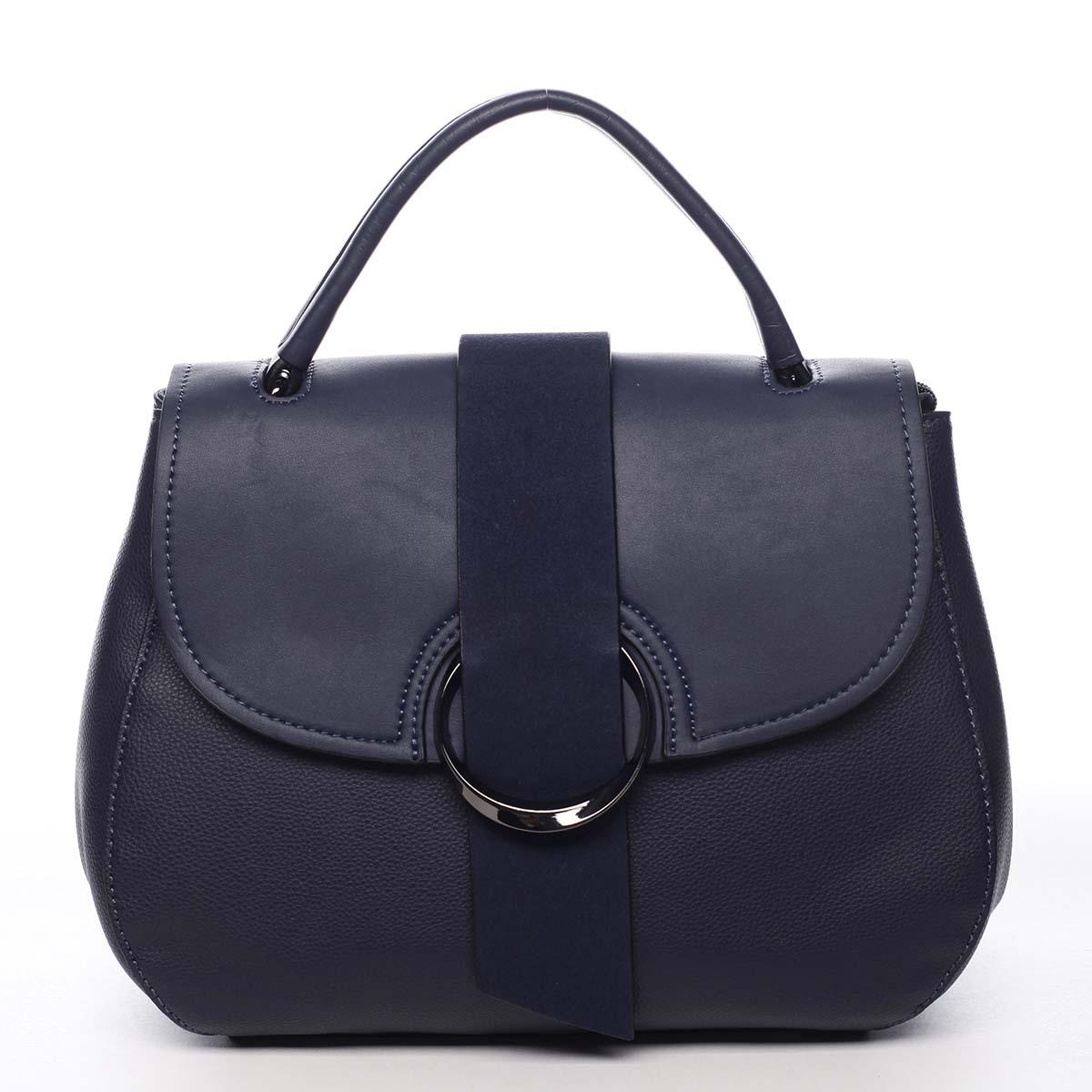 Jedinečná dámská kabelka do ruky tmavě modrá - Maria C Laurel