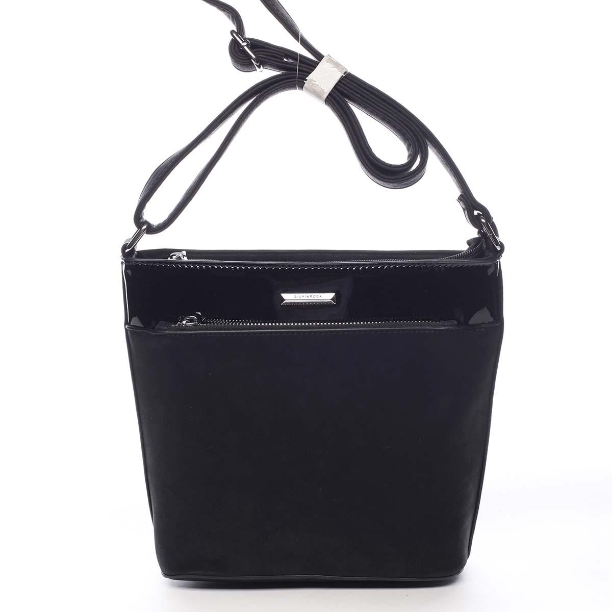 Dámská crossbody kabelka černá - Silvia Rosa Elizeth