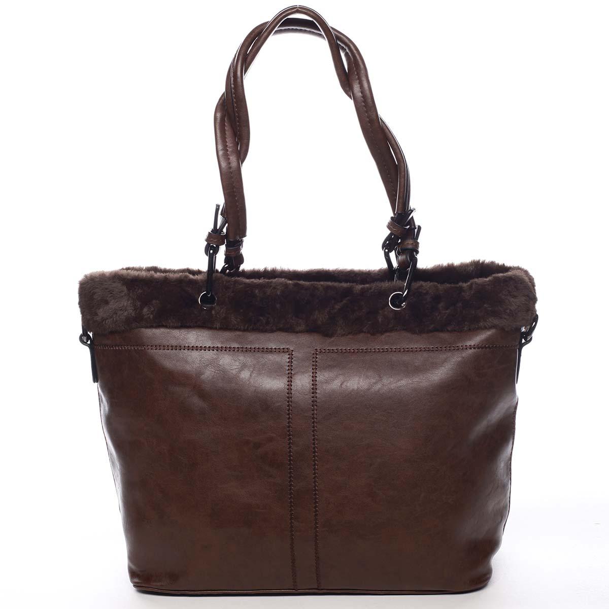 Dámská kabelka přes rameno kávově hnědá - Maria C Lyra
