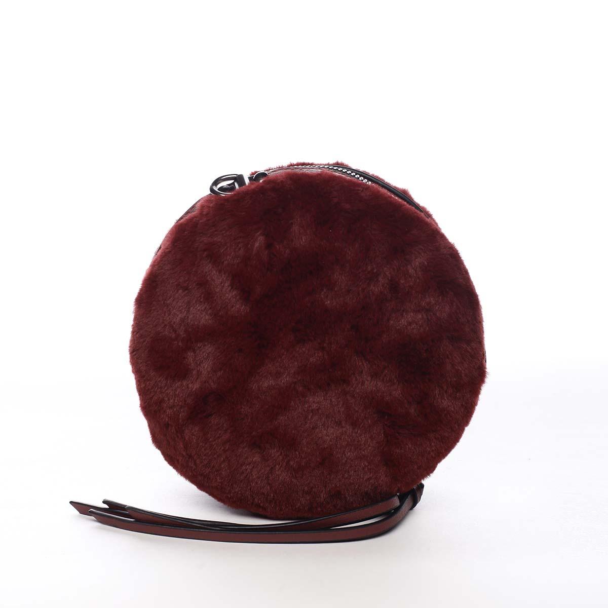 Dámská kožešinová kabelka vínová - Maria C Cheer