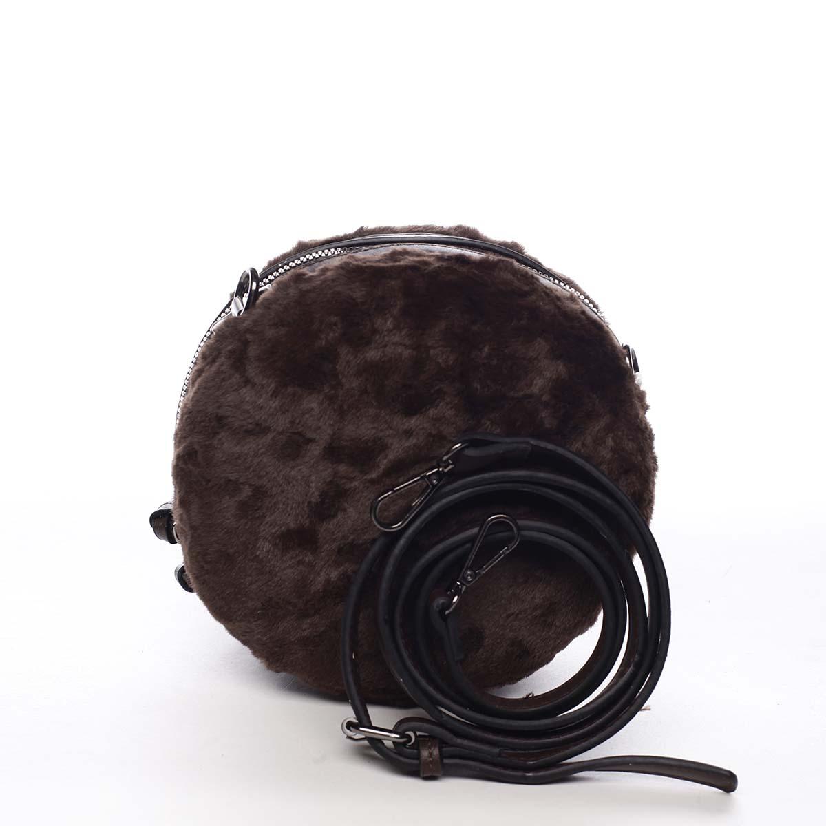 Dámská kožešinová kabelka kávově hnědá - Maria C Cheer