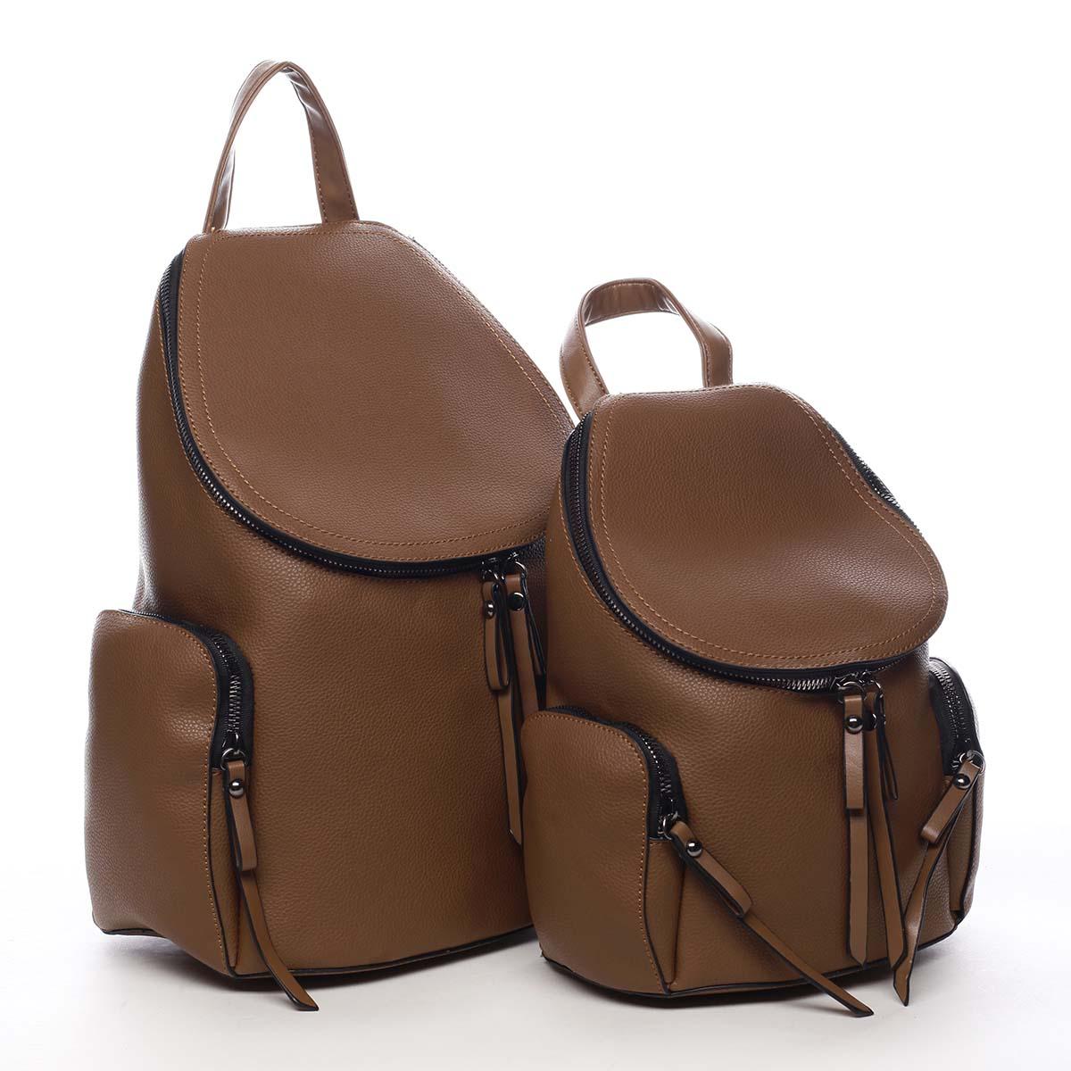 Dámský batoh hnědý - Maria C Hips Dual