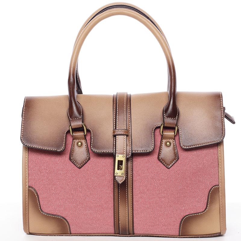 Trendy dámská kabelka do ruky červená - MARIA C Delmare