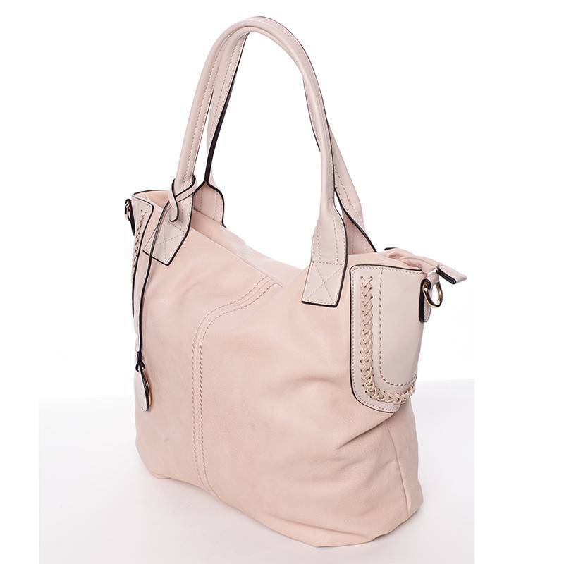 Módní dámská kabelka přes rameno růžová - MARIA C Calantha