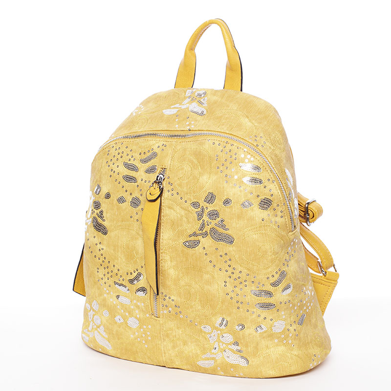 Dámský městský batůžek žlutý - MARIA C Zuria