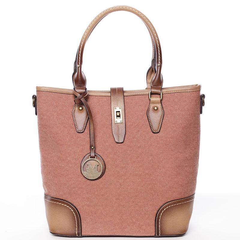 Elegantní dámská kabelka do ruky hnědá - MARIA C Bernelle
