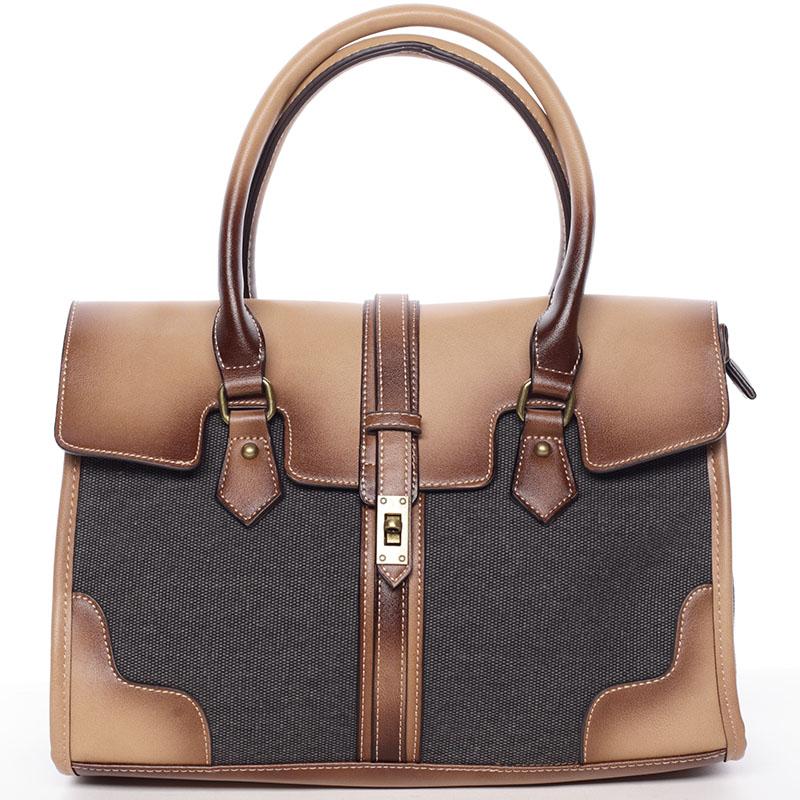 Trendy dámská kabelka do ruky černá - MARIA C Delmare